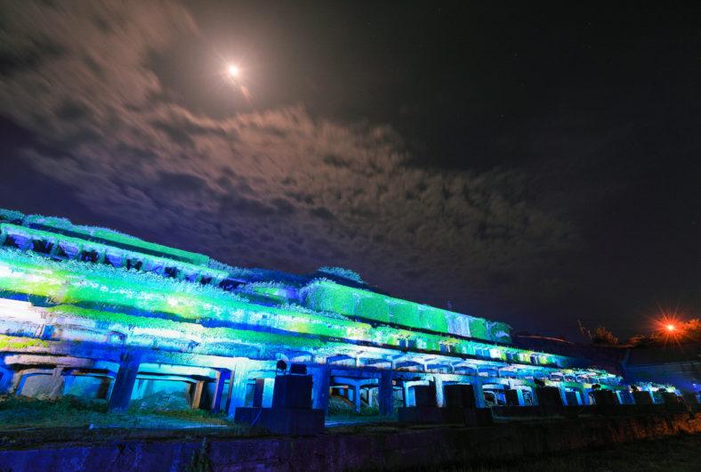 北沢浮遊選鉱場ライトアップ02